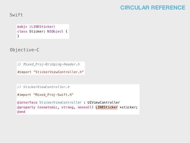 """@objc (LINESticker) class Sticker: NSObject { } // Mixed_Proj-Bridging-Header.h #import """"StickerViewController.h"""" // Stick..."""