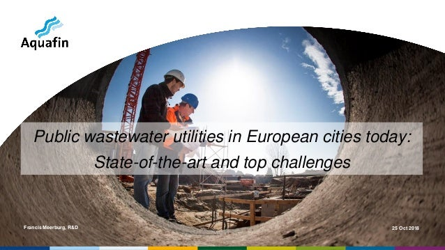 Francis Meerburg, R&D 25 Oct 2018 Public wastewater utilities in European cities today: State-of-the-art and top challenges