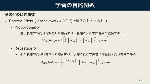 • • •   • •  25 ℒProp(D, ϕ) = 𝔼 [( Δst2 − Δst1 ) 2  at1 = at2] ℒRep(D, ϕ) = 𝔼 [ e − st2 − st1 2 Δst2 − Δst1 2  at1 = at...