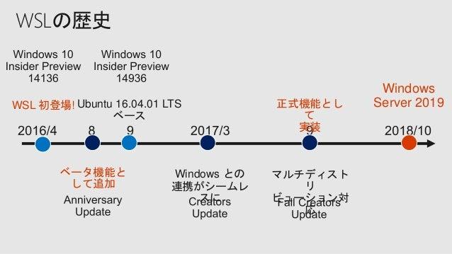 Windows Server 2019 Container & WSL