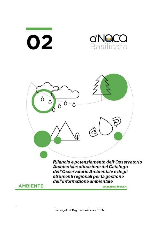 1 Un progetto di Regione Basilicata e FEEM