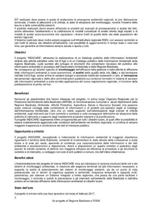 Report 2.2 Rilancio Potenziamento Osservatorio Ambientale Slide 3