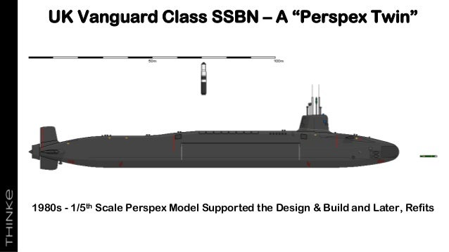 """UK Vanguard Class SSBN – A """"Perspex Twin"""" 1980s - 1/5th Scale Perspex Model Supported the Design & Build and Later, Refits"""