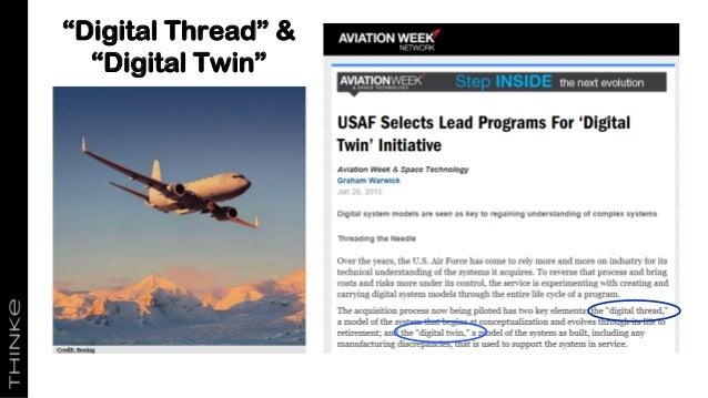 """""""Digital Thread"""" & """"Digital Twin"""""""