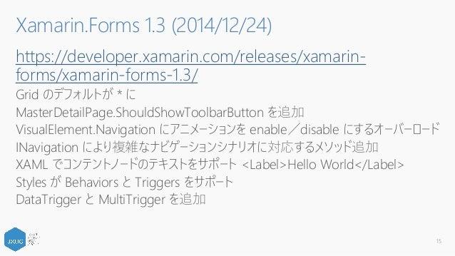 Xamarin Forms のこれまでとこれから
