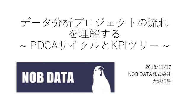 データ分析プロジェクトの流れ を理解する ~ PDCAサイクルとKPIツリー ~ 2018/11/17 NOB DATA株式会社 大城信晃