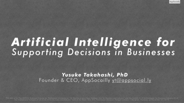 (Training) Artificial Intelligence for 