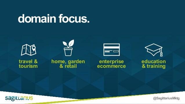 @SagittariusMktg domain focus. travel & tourism home, garden & retail enterprise ecommerce education & training