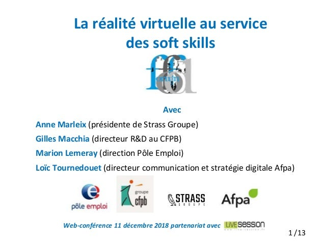 Avec Anne Marleix (présidente de Strass Groupe) Gilles Macchia (directeur R&D au CFPB) Marion Lemeray (direction Pôle Empl...