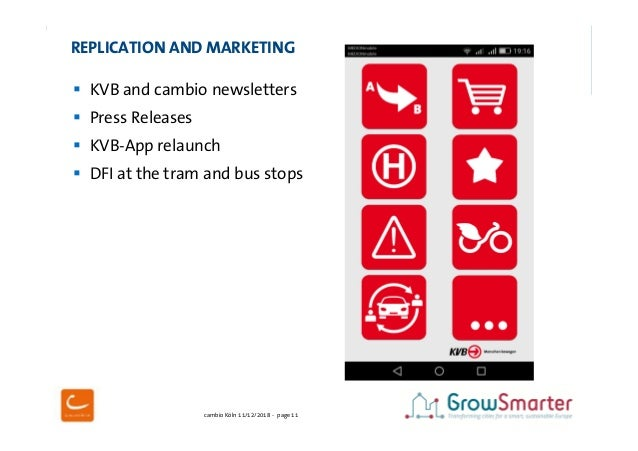 cambio Köln 11/12/2018 - page 11  KVB and cambio newsletters  Press Releases  KVB-App relaunch  DFI at the tram and bu...