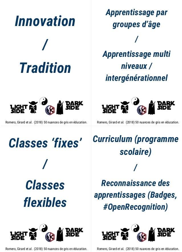 Innovation / Tradition Apprentissage par groupes d'âge / Apprentissage multi niveaux / intergénérationnel Classes 'fixes' ...