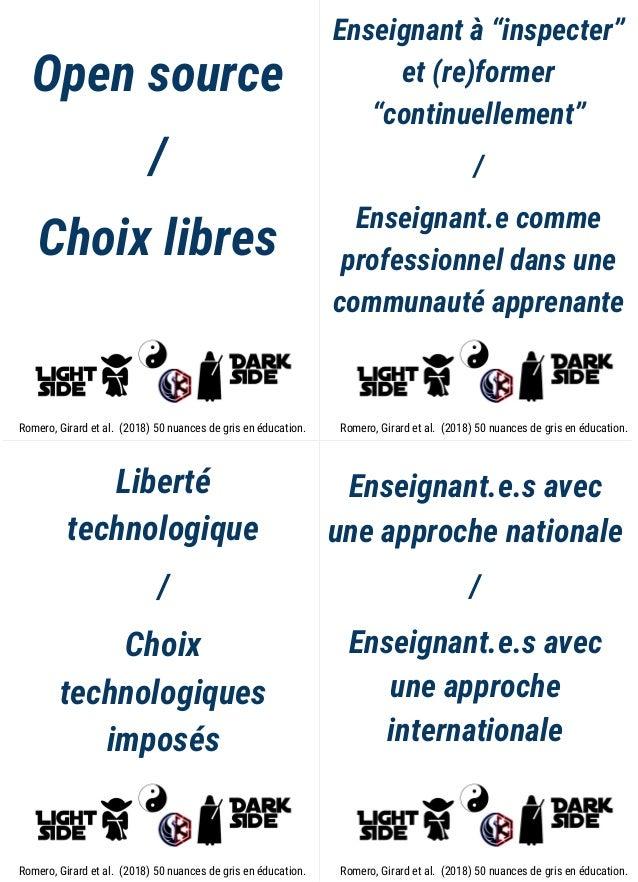 """Open source / Choix libres Enseignant à """"inspecter"""" et (re)former """"continuellement"""" / Enseignant.e comme professionnel dan..."""