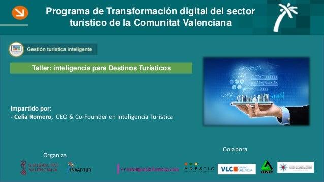 Colabora Organiza Impartido por: - Celia Romero, CEO & Co-Founder en Inteligencia Turística Programa de Transformación dig...