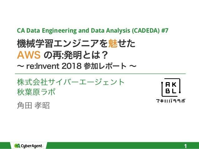 CA Data Engineering and Data Analysis (CADEDA) #7 1