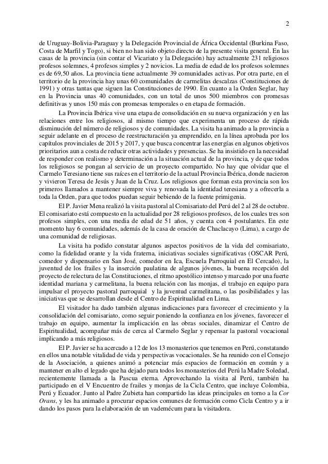 2 de Uruguay-Bolivia-Paraguay y la Delegación Provincial de África Occidental (Burkina Faso, Costa de Marfil y Togo), si b...