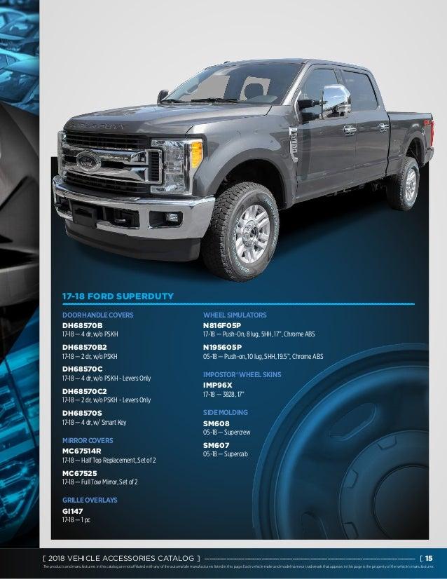"05-17 Ford Super Duty DUALLY Chrome 17/"" 8 Lug FRONT Wheel Center Hub Cap 1 Set"