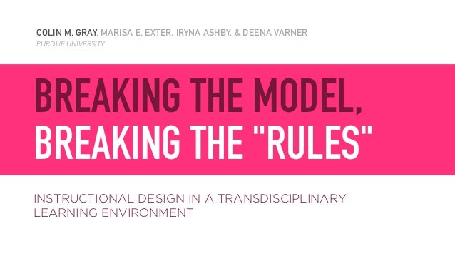 COLIN M. GRAY, MARISA E. EXTER, IRYNA ASHBY, & DEENA VARNER PURDUE UNIVERSITY BREAKING THE MODEL, 