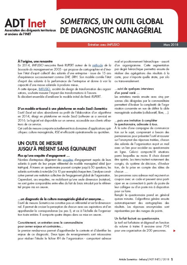Entretien avec IMFUSIO 1Article Sometrics - Imfusio//ADT INET//2018 ADT InetAssociation des dirigeants territoriaux et anc...