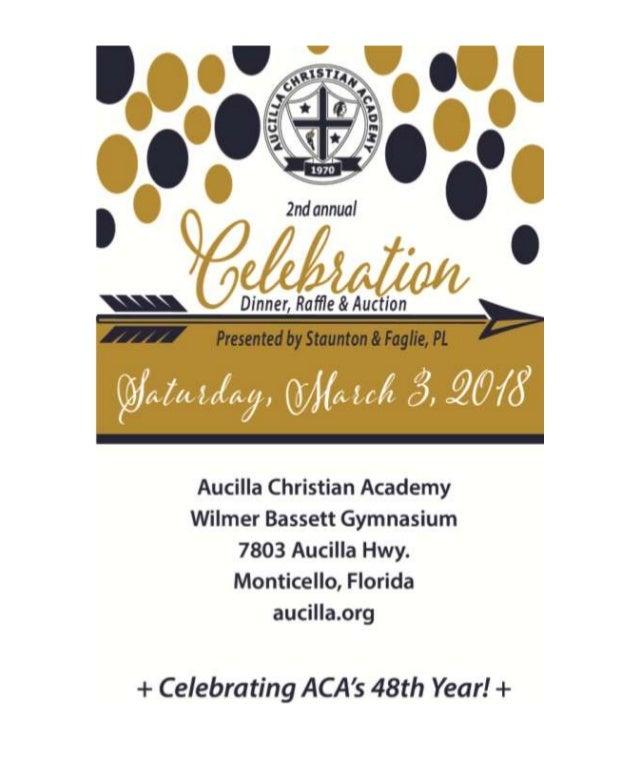 2018 ACA Celebration Dinner, Raffle & Auction Book