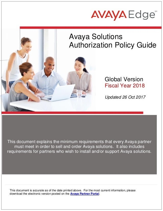 2018 avaya solutions authorization policy guide 31 oct2017