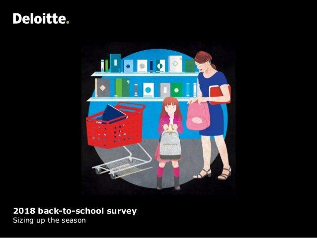 2018 back-to-school survey Sizing up the season