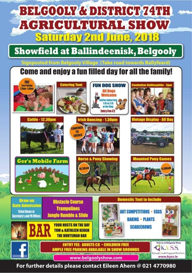 2018 Belgooly Show flyer