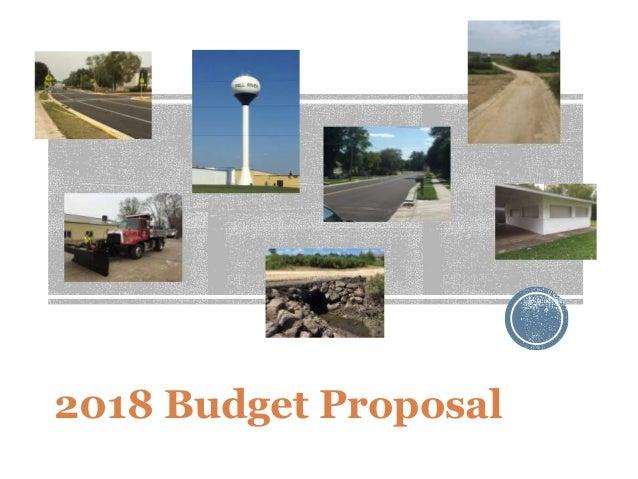 2018 Budget Proposal