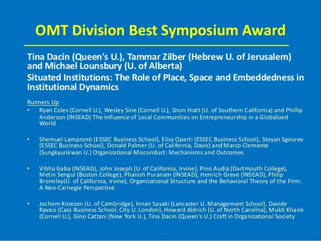 omt dissertation award