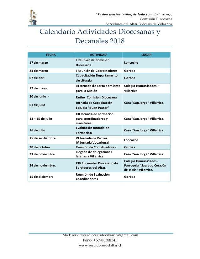 """""""Te doy gracias, Señor, de todo corazón"""" (Sl 138, 1) Comisión Diocesana Servidores del Altar Diócesis de Villarrica Mail: ..."""