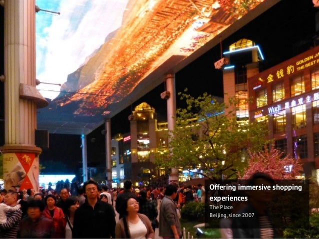 Offering immersive shopping experiences The Place Beijing, since 2007