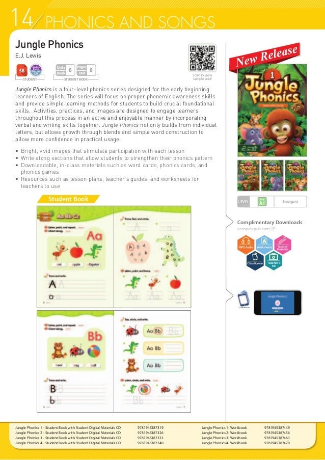 14 PHONICS AND SONGS Student Book Jungle Phonics E.J. Lewis Jungle Phonics is a four-level phonics series designed for the...