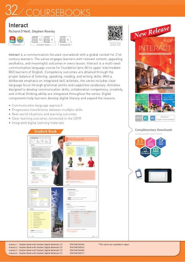 33COURSEBOOKS Interact 1 - Workbook  9781640150584 Interact 2 - Workbook  9781640150591 Interact 3 - Workbook  97816401...