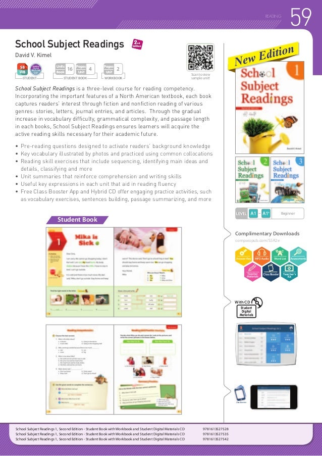 60 READING STUDENT WORKBOOK Pages Unit 2 STUDENT BOOK Pages Unit 6 Units Book 20 Reading Starter is a three-book reading s...