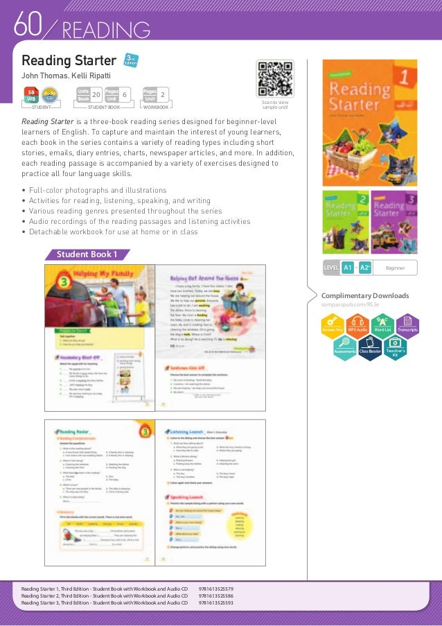 61READING Reading Builder is a three-level series designed to capture the interest of learners through the utilization of ...