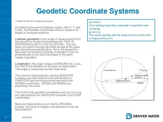 2018 GIS in the Rockies Workshop: Coordinate Systems and Projections