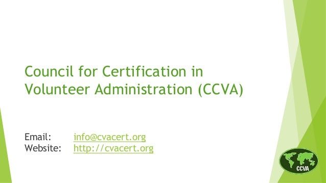 The CVA Credential: A Mark of Excellence