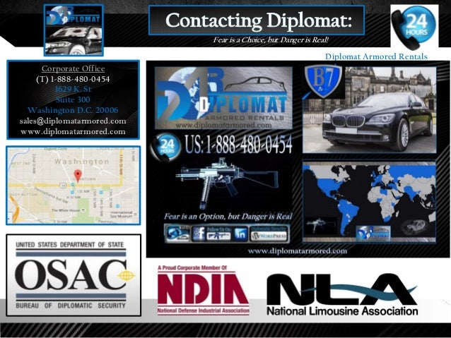 Diplomat Armored Rentals Corporate Overview 2018