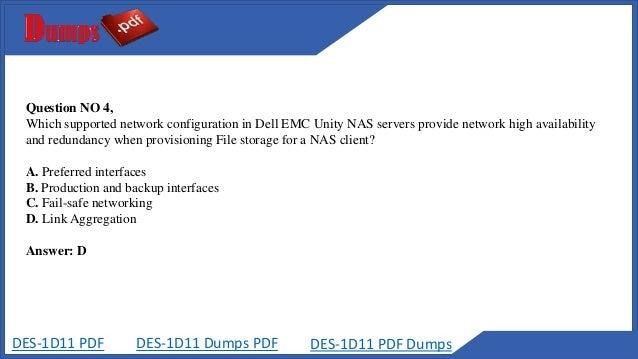 2018 EMC DES-1D11 PDF - DES-1D11 Real Exam Dumps -DES-1D11