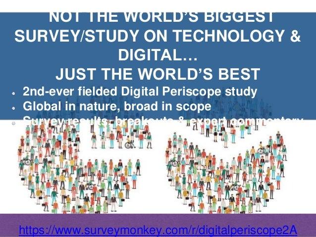 The 2018 Digital & Technology Periscope '; Global Survey, Study & Report Slide 2