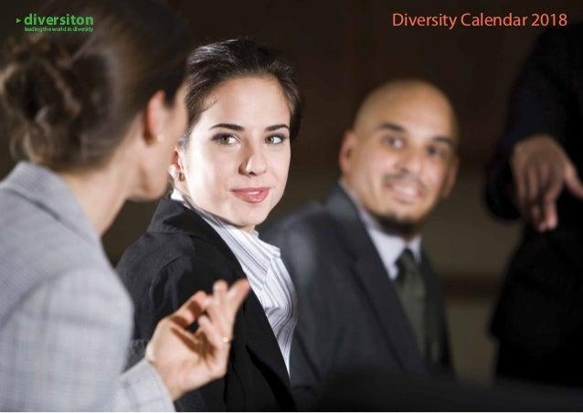 Diversity Calendar 2018diversitonleading the world in diversity