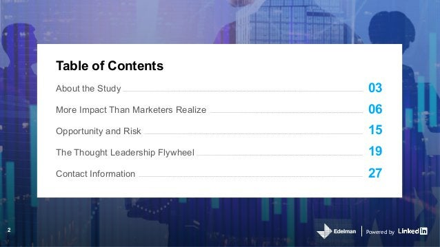 Powered by Table of Contents 03 06 15 19 27 About the Study More Impact Than Marketers Realize Opportunity and Risk The Th...
