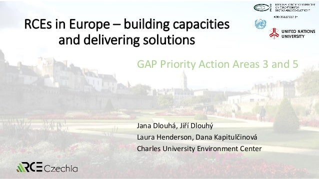 RCEs in Europe – building capacities and delivering solutions Jana Dlouhá, Jiří Dlouhý Laura Henderson, Dana Kapitulčinová...