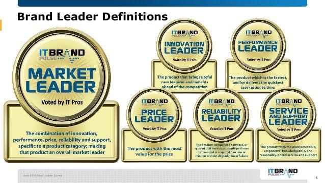 June 2018 Brand Leader Survey 5 Brand Leader Definitions