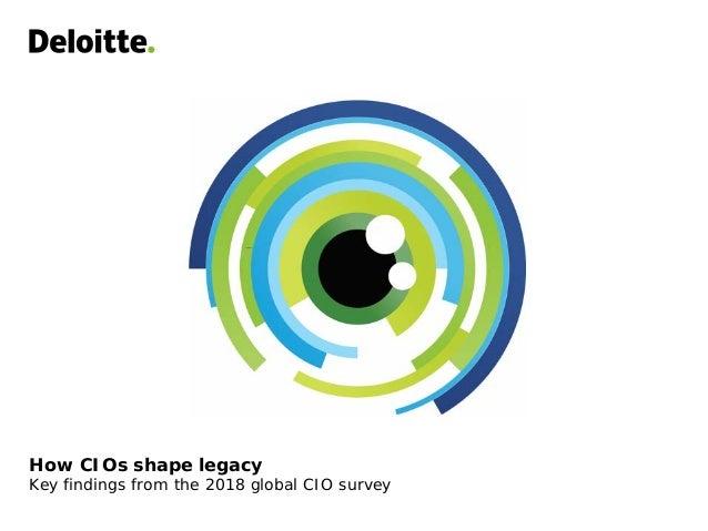 How CIOs shape legacy Key findings from the 2018 global CIO survey
