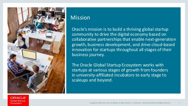 Oracle Global Startup Ecosystem Overview August 2018