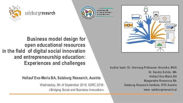 Business model design for open educational resources in the field of digital social innovation and entrepreneurship educat...