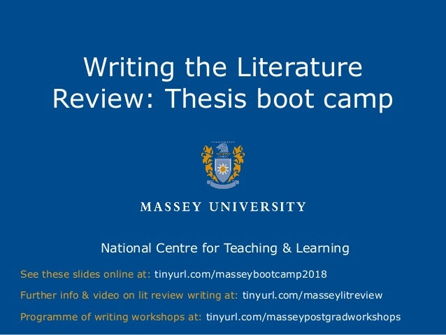 literature review of phd thesis