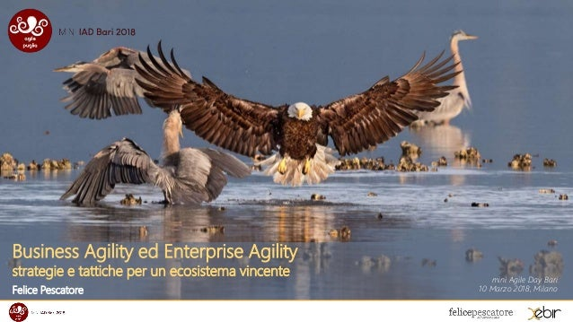 Business Agility ed Enterprise Agility strategie e tattiche per un ecosistema vincente Felice Pescatore mini Agile Day Bar...