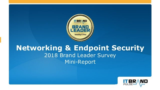Networking & Endpoint Security 2018 Brand Leader Survey Mini-Report