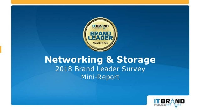 Networking & Storage 2018 Brand Leader Survey Mini-Report